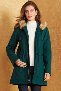 Out Fur Trimmed Anorak Coat - Misses
