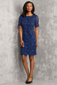 M Drs All Over Ss Lace Dress - Plus