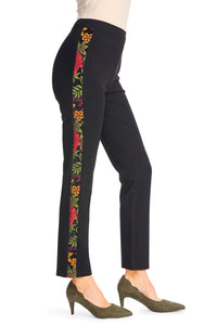 Ponte Embroidered Legging - Misses