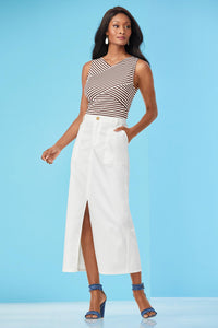 Tall Skt Front Slit Cargo Skirt
