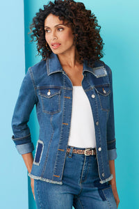 Patch Jean Jacket -Misses
