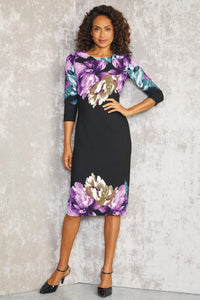 Watercolor Print Dress - Misses