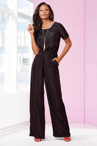 Wide Leg Jumpsuit - Plus