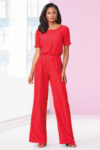 Wide Leg Jumpsuit - Tall