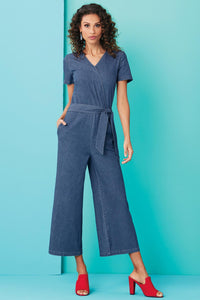 Petite Drs Side Tie Cropped Jumpsuit