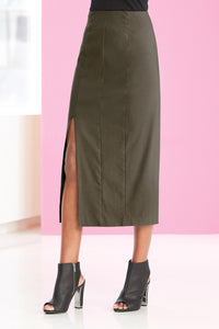 Misses M Skt High Waist Bi Stretch Skirt