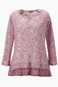 Knit Lace Hem Tunic - Misses
