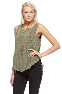 Print Sleeveless Blouse - Misses