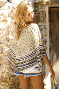 Misses M V-Shaped Poncho With Tank