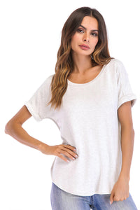 V-Neck Short Sleeve Top - Misses