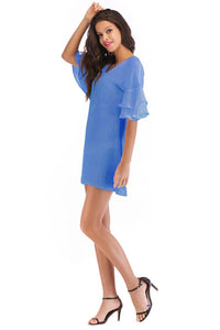 Short Ruffle Sleeve Dress - Misses