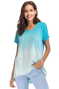 Short Sleeve High Low Knit Top - Misses