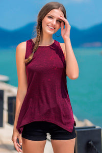 Knit Sleeveless Scoop Neck Knit Tank - Misses