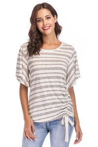 Short Sleeve Scoop Neck Knit Top - Misses