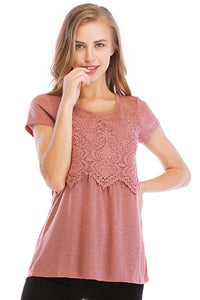 Misses M Knt Short Sleeve Knit Top
