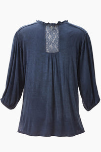 V Neck Knit Tunic -Misses