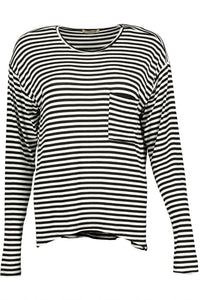 Misses M Knt Long Sleeve Scoop Neck Knit Top With Pocket