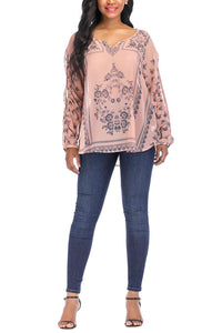 Long Sleeve Cold Shoulder Top - Misses