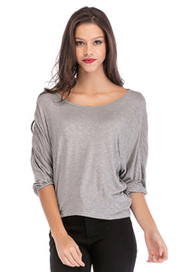 Misses M Scoop Neck Knit Top