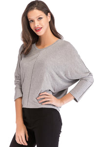 Misses M Scoop Neck Knit Tee Top