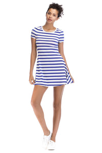 Short Sleeve Crew Neck Knit Dress - Misses