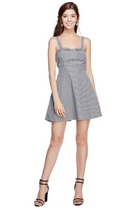 Gingham Tie Back Dress - Misses
