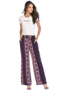 Chevron Stripe Pull On Pant - Misses