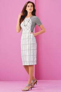 Windowpane Pocket Dress - Misses