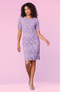Misses M Drs Lace Overlay Dress: