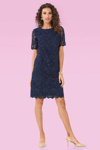 Lace Overlay Dress - Misses