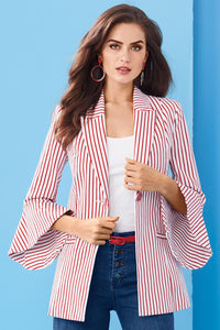 New Bell Sleeve Stripe Jacket - Tall