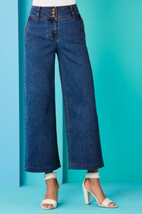 Tall Dnm New Wide Leg Cropped Jeans