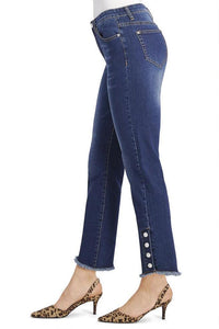 Denim Fashion Jeans with Pearl Snaps-Tall
