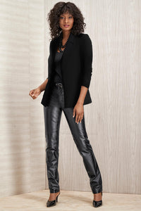 Wool Blend Blazer - Misses - Black