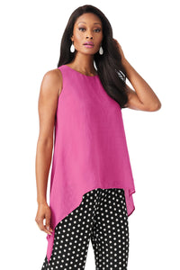 Sleeveless Top With Draped Sides Blouse - Misses