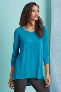 Knit 3/4 Sleeve Knit Tunic - Plus