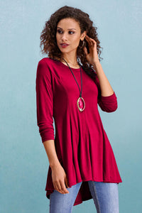 Long Sleeve High Low Tunic - Misses