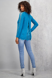 Lace Inset Sweater - Misses