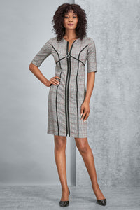 Zip Front Suiting Dress - Misses