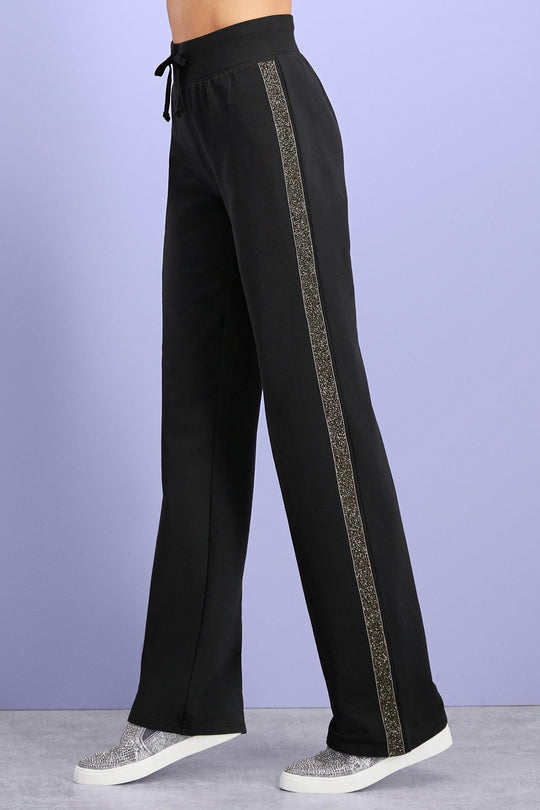 Glitter Trim French Terry Pants