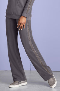 Glitter Trim French Terry Pant - Misses