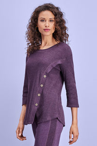 Asymmeridal Side Button Tunic - Misses
