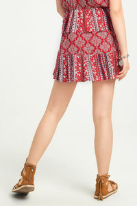 Tile Print Skirt - Misses