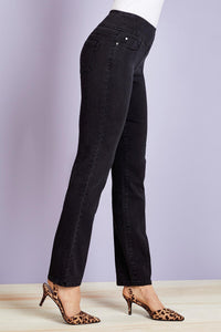 Smooth Waist Straight Leg Jeans - Petite