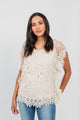 Butterfly Crochet Top