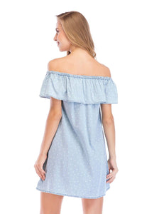Ladies Solid Off Shoulder Dress