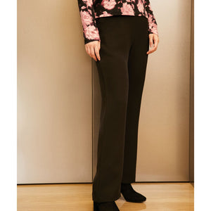 Black Casual Wide Leg Pants