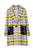 Winter Overcoat Plaid Lapel Collar Long Coat