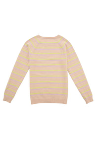 Stripe Crew Neck Long Sleeve Sweater