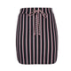 Striped Drawstring Knot Skirt